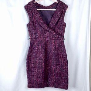 Trina Turk Purple Wool Blend Tweed Dress